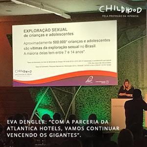 Childhood Brasil participou da 18ª Convenção Anual da parceira Atlantica Hotels