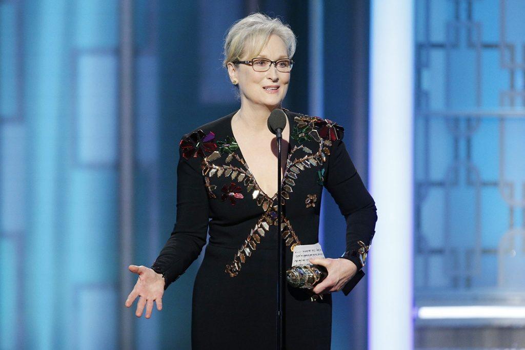 """A atriz Meryl Streep não sofre mais sobre assédio sexual e diz: """"já passei por coisas quando era jovem e bonita"""""""