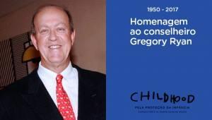 Hoje, homenageamos o conselheiro Gregory Ryan