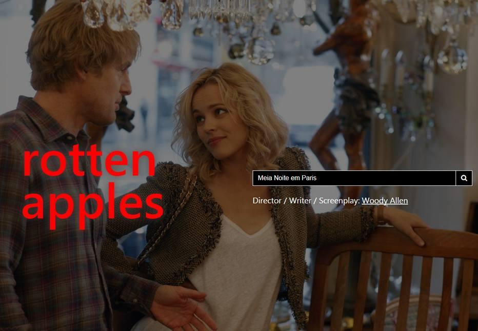 Site indica se filmes e séries têm atores ou membros da produção denunciados por assédio sexual